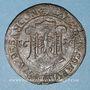 Coins Franche-Comté. Besançon. Chambre des comptes. Ferdinand II. Jeton cuivre 1628