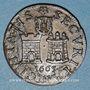 Coins Franche-Comté. Besançon. Co-gouverneurs. Antoine-Désiré Linglois Jeton cuivre 1665