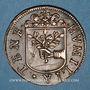 Coins Franche-Comté - Besançon. Co-gouverneurs - Jean-Antoine de Tinseau. Jeton cuivre 1669