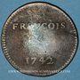Coins François GUIOT. Jeton cuivre 1742