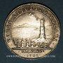 Coins Galères. Louis-Joseph de Vendôme, général des galères. Jeton argent 1702