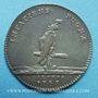 Coins Galères. Louis XV. Jeton argent 1747
