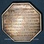 Coins Hainaut - Gouverneurs de Valenciennes. Ch. Fr. de Montmorency-Luxembourg. Jeton argent octogonal
