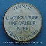 Coins Jeunes agriculteurs. Publicité sur pièce de 10 francs