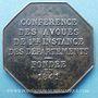 Coins Justice. Conférence des Avoués de 1ère Instance des Départements fondée en 1841. Jeton argent