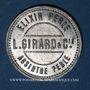 Coins L. Girard & Cie. Elixir Perle. Absinthe Perle. Jeton publicitaire
