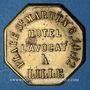 Coins Lille (59). J. Vanmeenen dit L'Avocat, Hôtel L'Avocat (place St Martin). Jeton publicitaire