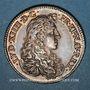 Coins Louis XIV (1643-1715). Jeton argent 1667. Tranche lisse.