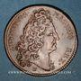 Coins Louis XIV et Louis XV. Jeton cuivre