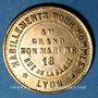 Coins Lyon (69). Au Grand Bon Marché (18 rue de la Barre), Habillements pour hommes. Jeton publicitaire