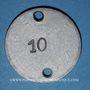 Coins Lyon (69). Bassin Nautique. Jeton publicitaire, contremarque 10 au revers