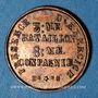 Coins Lyon (69). Garde Nationale Sédentaire. Présence d'Exercice, 3e Bataillon, 8e cie. Jeton publicitaire