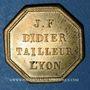 Coins Lyon (69). J.F. Didier - Tailleur, Lyon (place de l'Herberie, n° 2). Jeton publicitaire