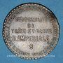 Coins Lyon (69). Maison du Bat-d'Argent. Gde Spécialité de Toile et Blanc R. Imperiale. Jeton publicitaire