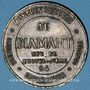 Coins Lyon (69). Maison Sarrazin. Bijouterie - joaillerie - orfèvrerire. Jeton publicitaire laiton
