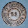 Coins Lyon (69). Restaurant Garbit-Fougère. N° 33. Jeton cuivre