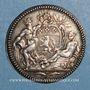 Coins Lyon. Académie Littéraire. Jeton argent 1700. Var avec date en chiffres romains