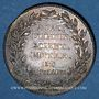 Coins Lyon. Académie Littéraire. Jeton argent 1700