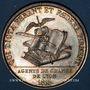 Coins Lyon. Agents de change. Jeton argent 1816. Poinçon : lampe