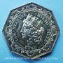 Coins Lyon, Courtiers pour la soie, jeton argent 1827. Poinçon : proue de navire