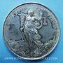Coins Lyon, Essai de soie des fabricants et des marchands réunis, jeton argent 1882. Corne d'abondance