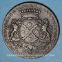 Coins Lyon. Municipalité. Dugas, président de la prévôté des marchands. Jeton cuivre 1727