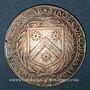 Coins Maine. Perrochel C., seigneur de Grandchamp et M. Varelet de Gibecour. Jeton argent n. d.