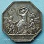 Coins Manufacture royale des glaces de Saint Gobain. Jeton en argent. Poinçon : corne d'abondance