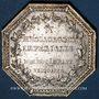 Coins Messageries impériales. Jeton argent 1809. Gravé par Droz