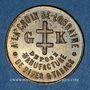 Coins Metz (57). G. Koch (6 rue du Petit Paris) A la Croix de Lorraine, Manufacture... Jeton publicitaire