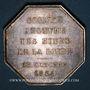 Coins Mines. Saint-Etienne. Mines de la Loire. Jeton en argent 1874