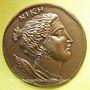 Coins Nice. 74e congrès des Notaires de France 1977. Jeton bronze. 36,8 mm