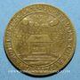 Coins Nivernais. Fondation Louis de Gonzague et Henriette de Clèves. Jeton cuivre jaune 1651