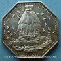 Coins Nogent-sur-Seine. Caisse d'Epargne. Jeton argent octogonal