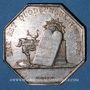 Coins Notaires. Auxerre. Jeton argent 1838. Poinçon : main indicatrice