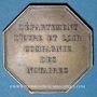 Coins Notaires. Eure-et-Loire. Jeton bronze 1836. Poinçon : corne d'abondance