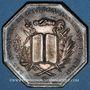 Coins Notaires. Lyon. Jeton argent 1883. Poinçon : corne d'abondance
