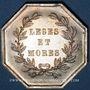 Coins Notaires. Saint-Amand. Jeton argent. Poinçon : corne d'abondance