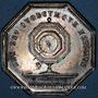 Coins Notaires. Saint-Etienne. Jeton argent 1846. Poinçon : main indicatrice