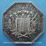 Coins Notaires. Vienne. Jeton argent 1837. Poinçon : proue de navire