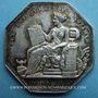 Coins Notaires. Villefranche. Jeton argent 1825. Poinçon : pipe