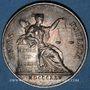 Coins Notaires. Villefranche. Jeton argent 1825. Sans poinçon