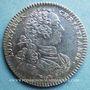 Coins Ordinaire des Guerres. Louis XV. Jeton argent 1757