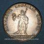 Coins Ordre de St-Louis. Louis XVI. Jeton argent