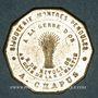 Coins Paris (75). A la gerbe d'or, A. Chapus, bijouterie, montres, pendules. Jeton publicitaire laiton arg