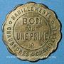 Coins Paris (75). Au Buttes Chaumont. Habillements, chaussures, chapellerie. Bon pour 1 prime, en laiton