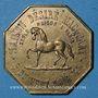 Coins Paris (75). Maison Désiré Macquart, marchand de chevaux - équarisseur. Jeton laiton