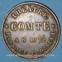Coins Paris (75). Théâtre Comte. Jeton publicitaire laiton