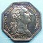 Coins Paris. Agents de change. Louis XVI. Jeton argent 1786. Octogonal