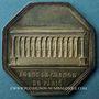 Coins Paris. Agents de change. Louis XVIII. Jeton argent 1821. Octogonal